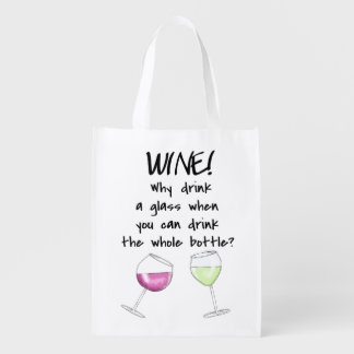 Glasses Wine Funny Saying Shopping Party Tote