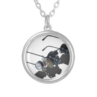 GlassesGearsGauge062115.png Silver Plated Necklace