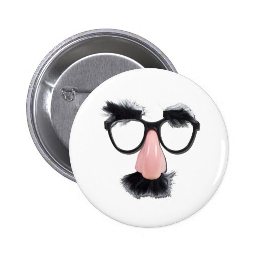 GlassesMustacheEyebrows090411 2 Inch Round Button