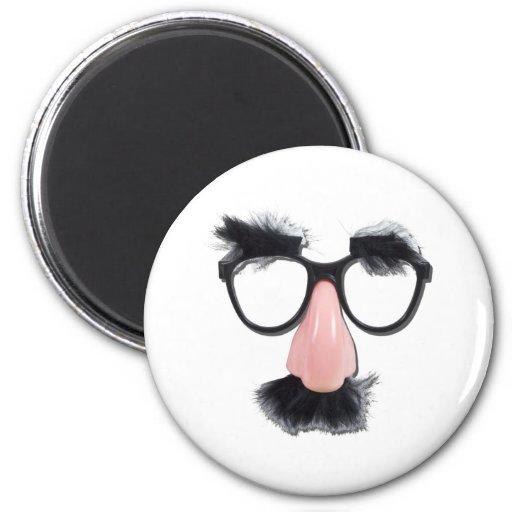 GlassesMustacheEyebrows090411 Refrigerator Magnet