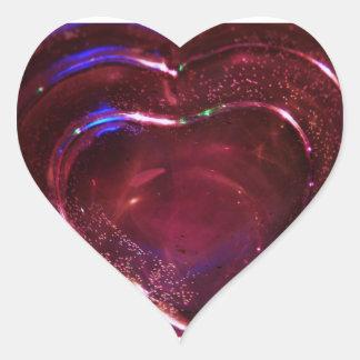 GlassHeart rosado bonito Colcomanias Corazon