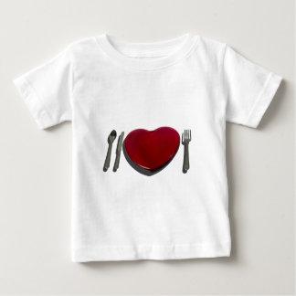 GlassHeartSilverware070315.png Baby T-Shirt