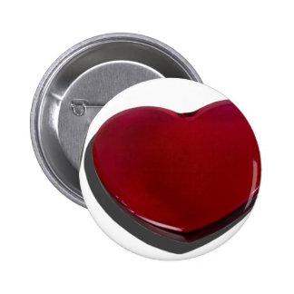 GlassHeartSilverware070315.png Pinback Button