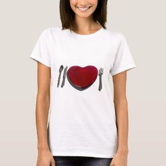 GlassHeartSilverware070315.png T-Shirt