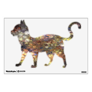 glassine kitty wall decal