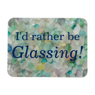 Glassing bastante la playa del vidrio del mar iman flexible