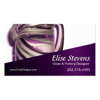 """Glassique"" - Glass Design, Pottery Designer Business Cards"