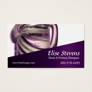 """Glassique"" - Glass Design, Pottery Designer Business Card"