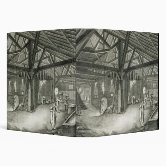 Glassmaking factory, from the 'Encyclopedia' by De Binder