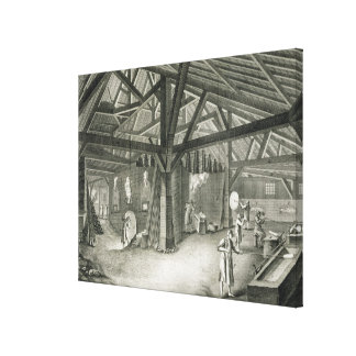 Glassmaking factory, from the 'Encyclopedia' by De Canvas Print