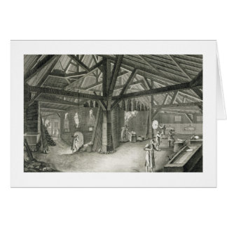 Glassmaking factory, from the 'Encyclopedia' by De Card