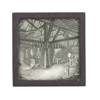 Glassmaking factory, from the 'Encyclopedia' by De Gift Box