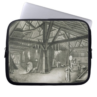 Glassmaking factory, from the 'Encyclopedia' by De Laptop Sleeve