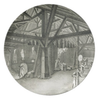 Glassmaking factory, from the 'Encyclopedia' by De Plate
