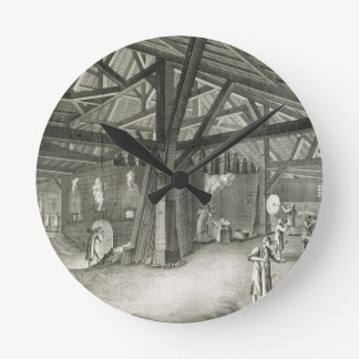 Glassmaking factory, from the 'Encyclopedia' by De Round Clock