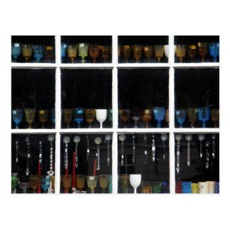 Glassware in Window Postcard