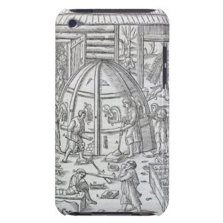 Glassworks, illustration showing the marble furnac iPod touch Case-Mate case