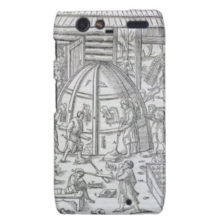 Glassworks, illustration showing the marble furnac droid RAZR covers