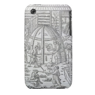 Glassworks, illustration showing the marble furnac iPhone 3 cover