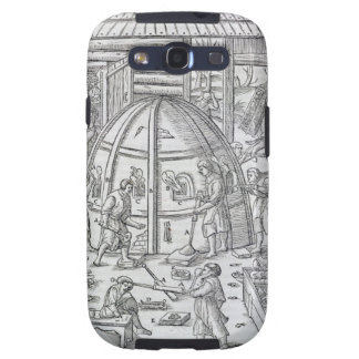 Glassworks, illustration showing the marble furnac samsung galaxy SIII case