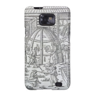 Glassworks, illustration showing the marble furnac samsung galaxy s2 cases