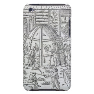 Glassworks, illustration showing the marble furnac barely there iPod covers