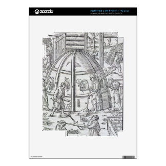 Glassworks, illustration showing the marble furnac iPad 3 decal