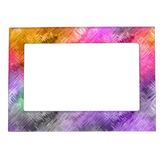 Glassy Ametrine Purple Texture Magnetic Picture Frame