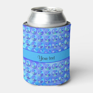 Glassy Blue Beads Can Cooler