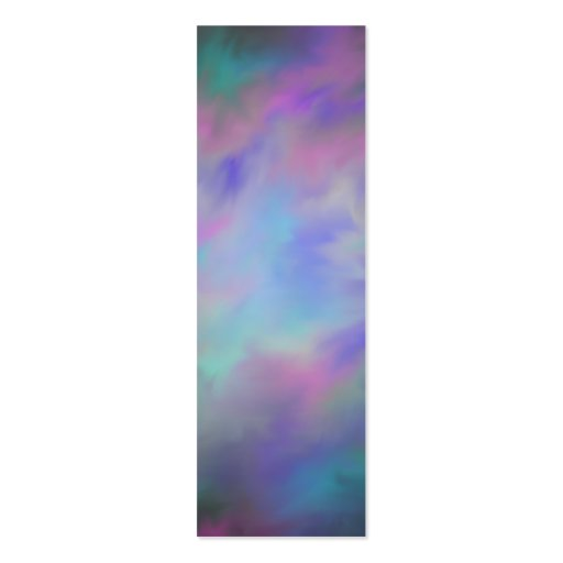 Glassy Galaxy Bookmarks Double Sided Mini Business Cards