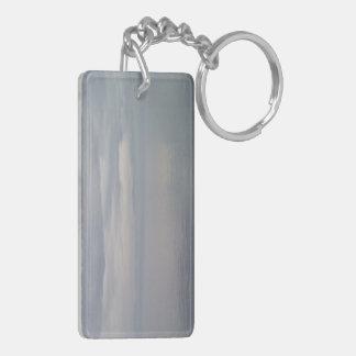 Glassy Gray Waters Acrylic Keychain