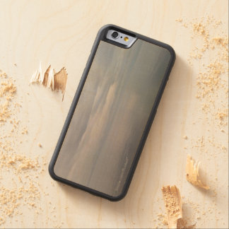Glassy Gray Waters Carved Wood Phone Case