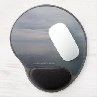Glassy Gray Waters Gel Mousepad