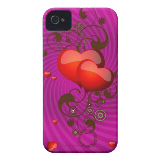 Glassy Hearts Purple Case for iPhone4