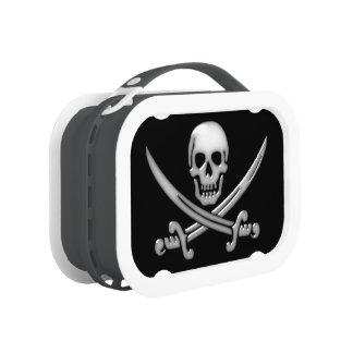 Glassy Pirate Skull & Sword Crossbones Lunch Box