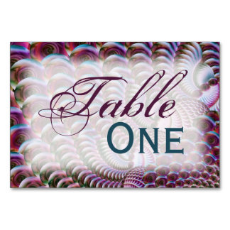 Glassy Spiral Table Card