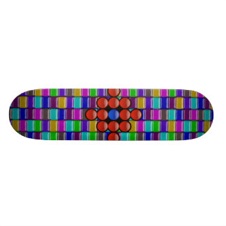 """Glassy tiles"" skateboard"