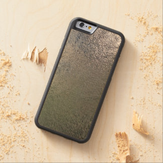 Glassy Water Carved Wood Phone Case
