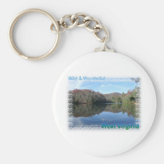 Glassy West Virginia Lake Keychain
