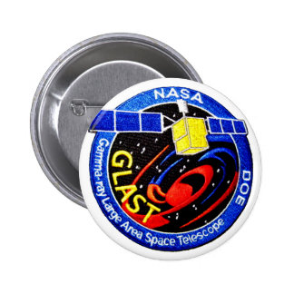 GLAST - DOE Program Logo Pinback Button