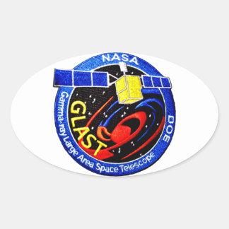 GLAST - Logotipo del programa de la GAMA Calcomanía Ovalada