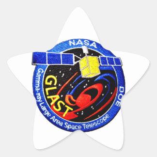 GLAST - Logotipo del programa de la GAMA Pegatina Forma De Estrella