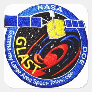 GLAST - Logotipo del programa de la GAMA Pegatinas Cuadradas