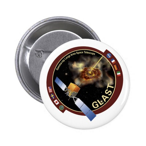 Glast Mission Patch Buttons