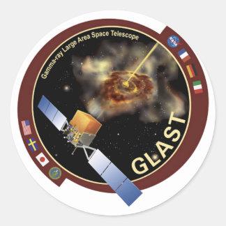 Glast Mission Patch Classic Round Sticker