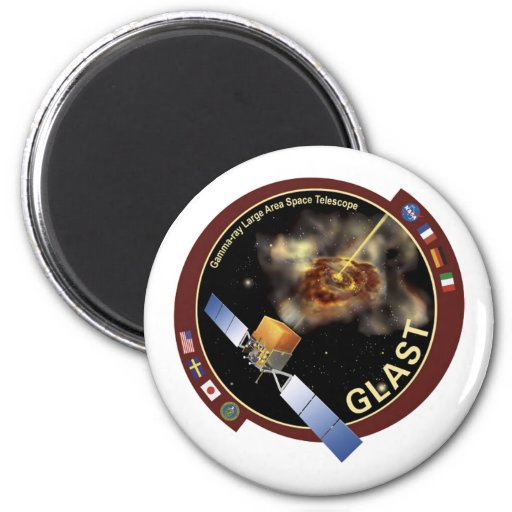 Glast Mission Patch Magnet