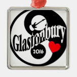 Glastonbury 2016 metal ornament