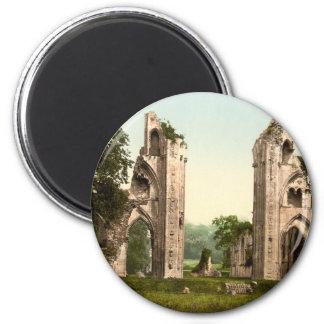 Glastonbury Abbey I, Somerset, England 2 Inch Round Magnet