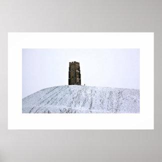 Glastonbury at Winter Solstice Poster