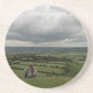 Glastonbury Festival Site from the Tor Drink Coaster